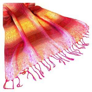 Large fringed scarf pashmina